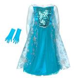 Платье Эльзы в комплекте с перчатками