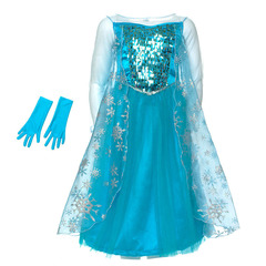Платье Эльзы со снежинками