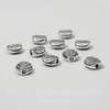 """Бусина металлическая """"Узоры"""" (цвет - античное серебро) 7х3 мм, 10 штук"""