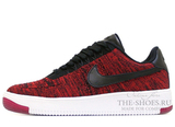 Кроссовки Женские Nike Air Force 1 Low Flyknite Red Black White
