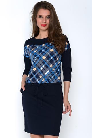 Яркое, стильное, уютное платье ждёт свою обладательницу. Платье с заниженной талией на кулиске. Очень удобные карманы. Идеальный вариант для осенних деньков. (Длина: 46=98см, 48=100см; 50=102см; 52=104см; 54=106см;).