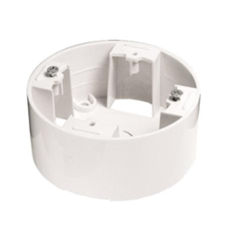 Коробка на 1 пост, подъёмная, круглая. Цвет Белый. LK Studio Vintage Classic (ЛК Студио Винтаж классик). 889004-1
