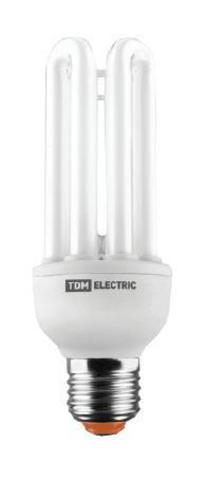 Лампа энергосберегающая КЛЛ-4U-55 Вт-2700 К–Е27 (72х275 мм) TDM