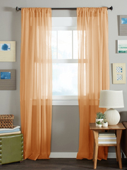 Длинные шторы. Тюль вуаль Nouvelle-2 (Orange)