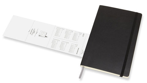 Еженедельник Moleskine ACADEMIC SOFT WKNT,black, фото 7
