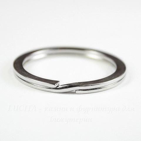 Кольцо для брелока 30 мм (цвет - античное серебро)