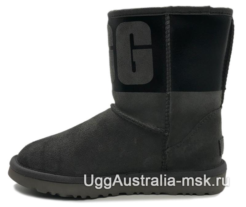 UGG Classic Short Rubber Boot Grey/Black