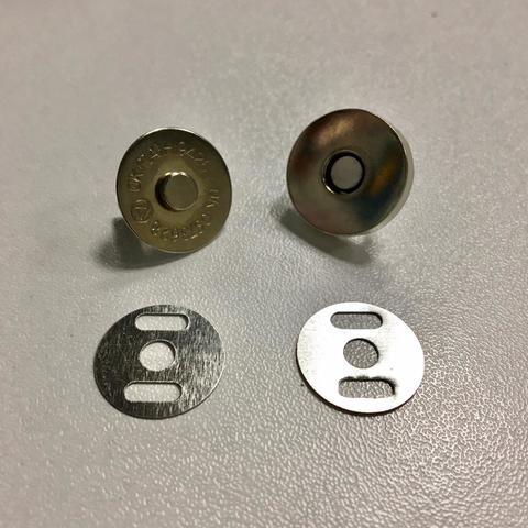 Магнитная кнопка (Никель) с креплением / арт 3M004
