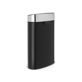 Мусорный бак Touch Bin New (40 л), Черный матовый, крышка стальная матовая, арт. 114847 - превью 3