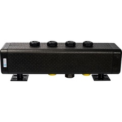 Стальной распределительный коллектор STOUT SDG-0016-005003 3 отопительных контура. В теплоизоляции DN 32