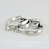 """Подвеска - коннектор """"Два сердца"""" 32х20 мм (цвет - античное серебро)"""