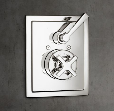 1930 Mackintosh Cross-Handle Balanced Pressure Shower Valve & Trim Set with Diverter