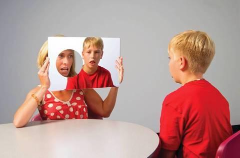 Зеркало с отверстием для логопедических занятий