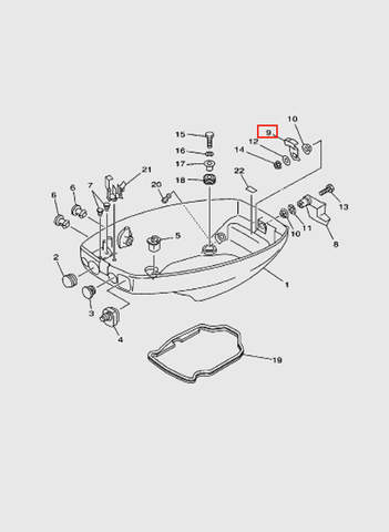 Ручка защелки колпака  для лодочного мотора T15, OTH 9,9 SEA-PRO (10-8)
