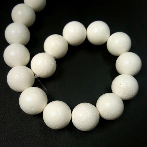 Бусина коралл белый 16 мм 1 бусина