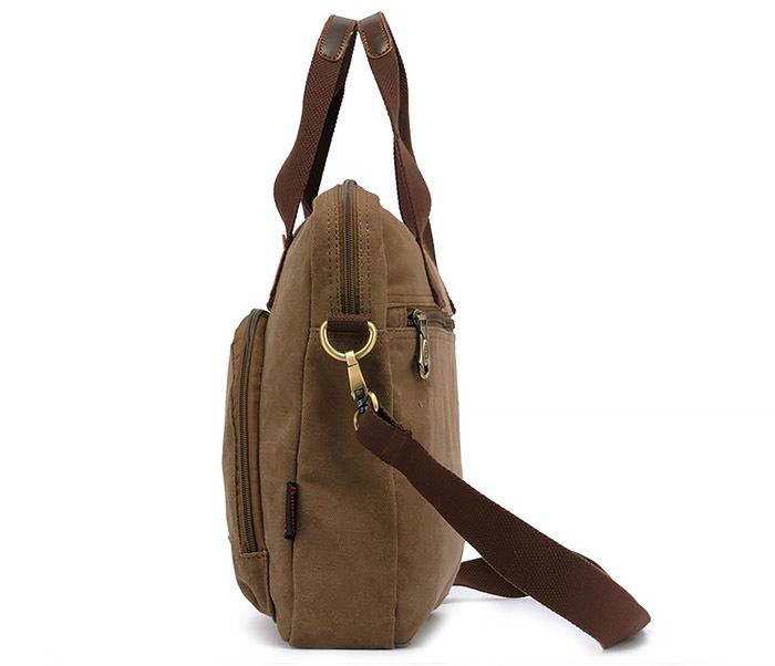 BAG400-2 Удобный мужской портфель из ткани с ремнем на плечо фото 02