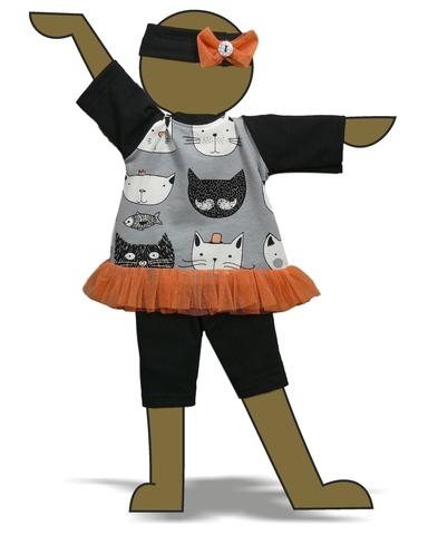 Костюм с туникой - Демонстрационный образец. Одежда для кукол, пупсов и мягких игрушек.