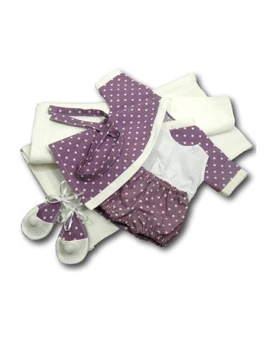 Комплект банный - Сиреневый. Одежда для кукол, пупсов и мягких игрушек.