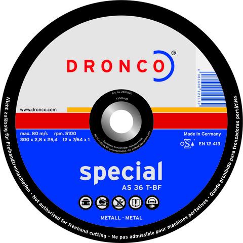 Абразивный отрезной диск Dronco AS 36 T-BF  400х3,2