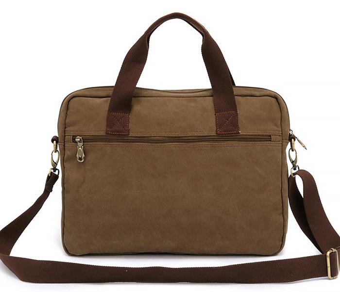 BAG400-2 Удобный мужской портфель из ткани с ремнем на плечо фото 03