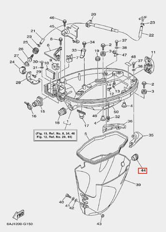 Кольцо демпферное для лодочного мотора F20 Sea-PRO (15-44)