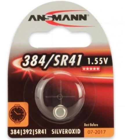 Батарейка для часов Ansmann SR41/384/392/ 1.55V