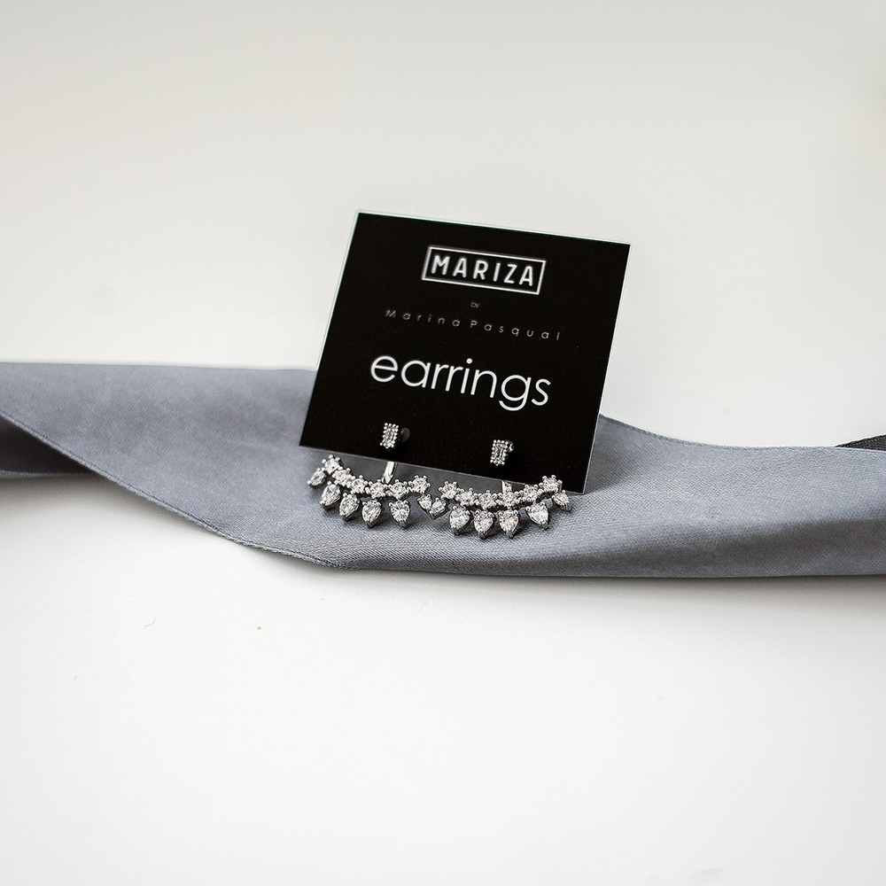 Бижутерия MARIZA, асимметричные серьги серебро