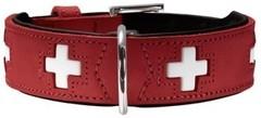 Ошейник для собак Hunter Swiss 75 (61-68,5 см) кожа красный/черный