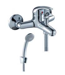 Смеситель для ванны и душа Rossinka Silvermix C40-31 однорычажный, с лейкой и шлангом, хром
