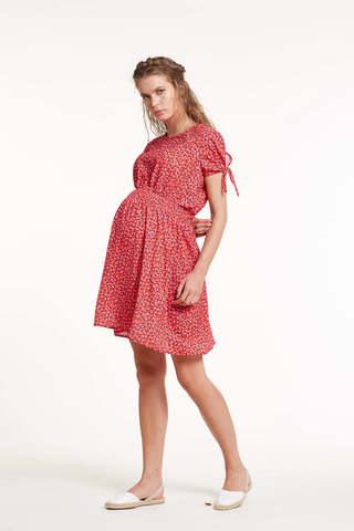 Платье для беременных 11445 красный