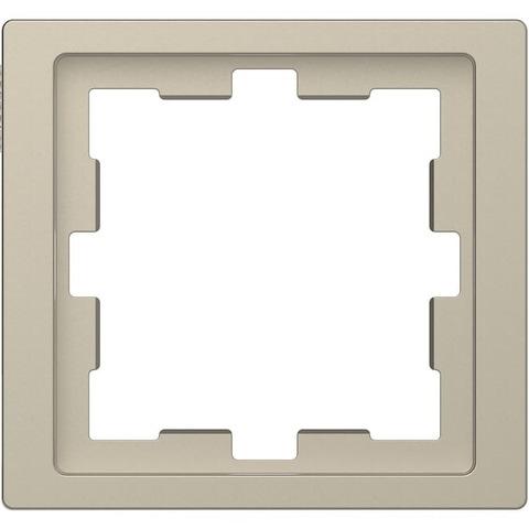 Рамка на 1 пост. Цвет Сахара. Merten. D-Life System Design. MTN4010-6533