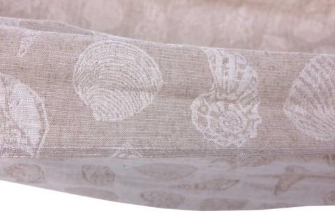 Гамак из льна серый с ракушками RG25R
