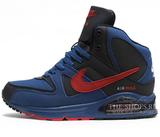 Кроссовки мужские с мехом Nike Air Max Skyline Black Blue Red