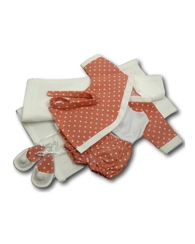 Комплект банный - Коралловый. Одежда для кукол, пупсов и мягких игрушек.