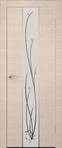 Дверь Zadoor Гранд (зеркало с рисунком), цвет беленый дуб, зеркало