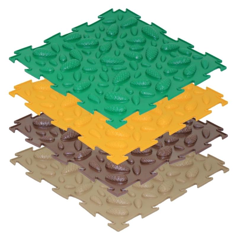 Модульный массажный коврик ОРТО «Шишки», мягкие