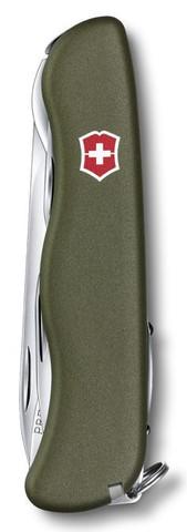 Складной нож Victorinox Picknicker Green (0.8353.4R) 111 мм., 11 функций, цвет зелёный