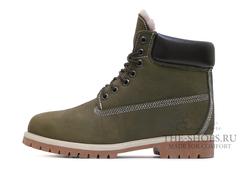 Ботинки Timberland 17061 Waterproof Khaki Мужские С Мехом