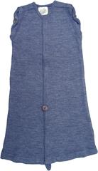 Спальный мешок для новорожденных,  0-3/4 мес (44-56/62 см), Серый меланж (шерсть мериноса 100%)