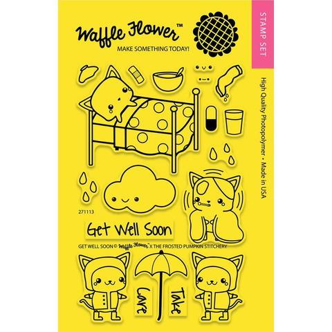 Набор штампов Waffle Flower Crafts Clear Stamps - Get well soon