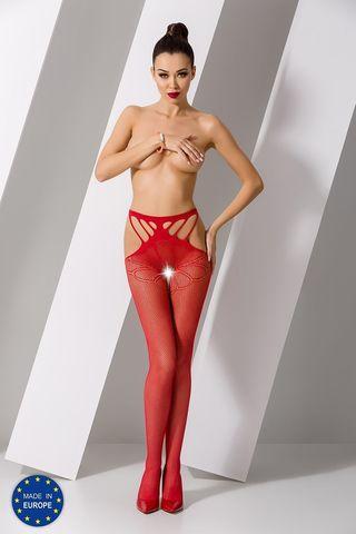 Эротичные колготки с доступом S001 красного цвета фото