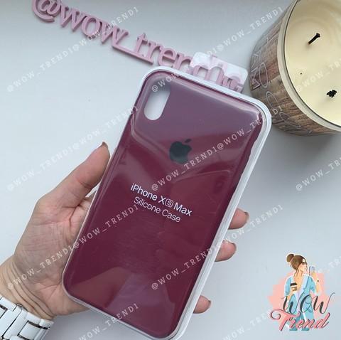 Чехол iPhone XS Max Silicone Case /marsala/ марсал 1:1