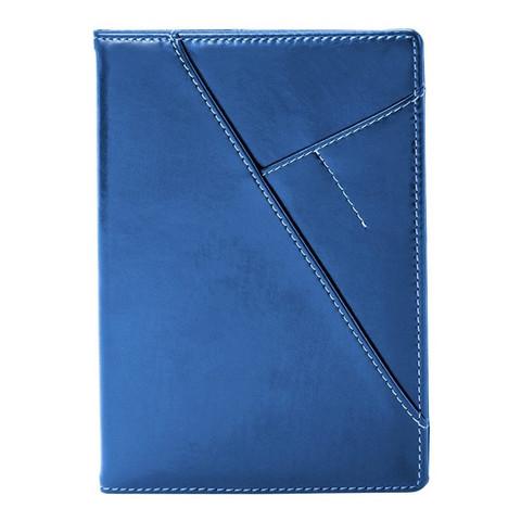 Ежедневник недат, синий, тв пер, 140х200, 160л, Portland AZ055/blue