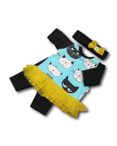 Костюм с туникой - Бирюзовый. Одежда для кукол, пупсов и мягких игрушек.