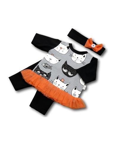 Костюм с туникой - Серый. Одежда для кукол, пупсов и мягких игрушек.