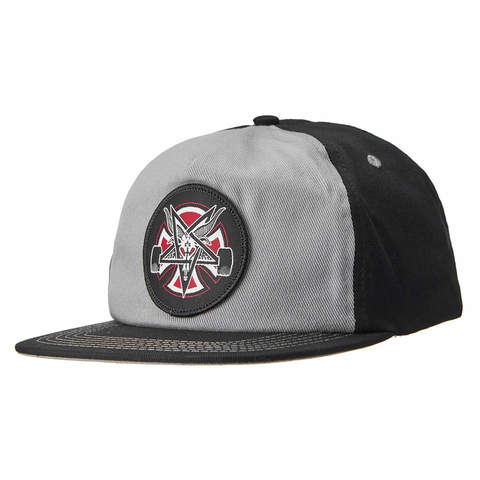 Кепка INDEPENDENT x THRASHER Pentagram Cross Snapback (Grey/Black)
