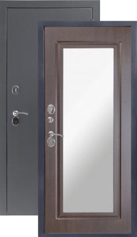 Дверь входная Sidoorov 80 3К зеркало Макси, 2 замка, 1,5 мм  металл, (серебро антик+венге)