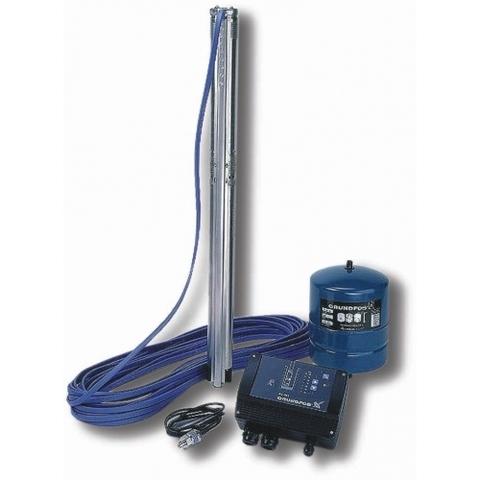 Комплект для поддержания постоянного давления с насосом Grundfos SQE 2-55