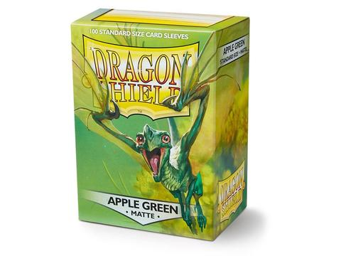 Протекторы Dragon Shield Apple Green Matte 100 шт