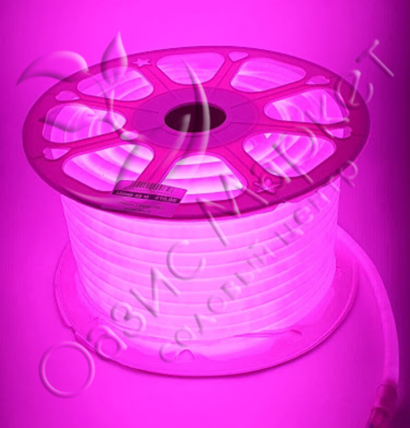 Неон 14мм 360 розовый
